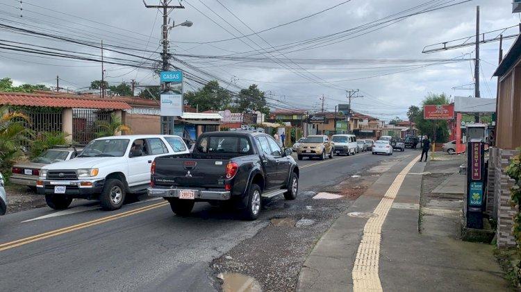 Trabajos en la vía en San Rafael de Montes de Oca
